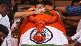Mass grief as Indian Tamil leader Jayalalithaa buried