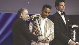 Hamilton crowned Formula 1 champ at royal palace