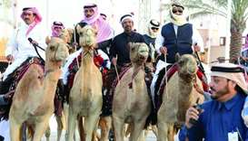 The camels and the riders