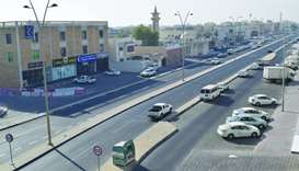 A road built in one of the newly developed areas in Al Aziziya area