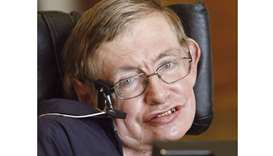 Hawking: opposes NHS privatisation.