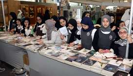 Children of different ages seen browsing through the books on display around the venue