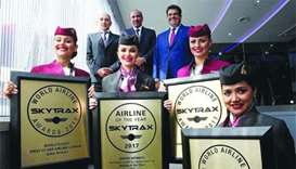 Qatar Airways flies high in 2017 with 50-plus top awards