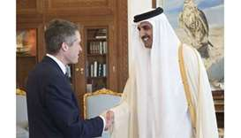 Emir meets UK defence secretary