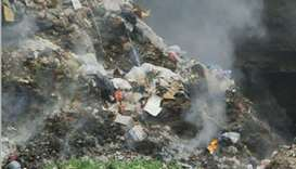 Lebanon choked by burning garbage, rights group says
