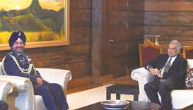 IAF chief meets Lanka PM