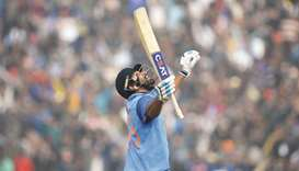 Sharma first player to hit 3 ODI double tons