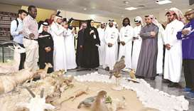 Qu officials visit one of the events.