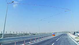 A view of the newly opened section of the Al Rayyan interchange.