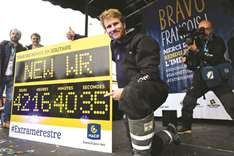 Frenchman pulverises solo around the world record