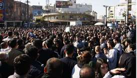 Kurdish demonstrators gather in the city of Sulaimaniyah to protest against political corruption and