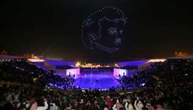 A glimpse of the 'drone show' at Katara.