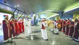 The HIA and the Qatar Tourism Authority (QTA) joined hands and organised the traditional Ardha (swor