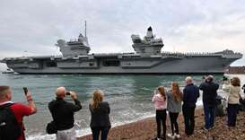 The 65,000-tonne British aircraft carrier HMS Queen Elizabeth