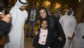 When Her Highness Sheikha Moza bint Nasser visited Katara on Tuesday to view the Drones Show at the