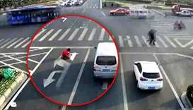 Traffic-weary Chinese man fined for repainting road lines