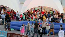Festival-goers at the Ajyal Film Festival at Katara