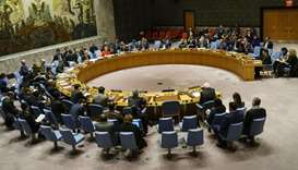 The UN Security Council meets concerning the situation in the Middle East involving Israel and Pales