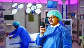 Staff in the new hospitals carry customised wireless phones.