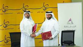 Qatar Post-Qatar Rail sign MoU on service delivery