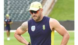 Captain Du Plessis doubtful for Zimbabwe Test
