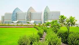 A view of the main hospital of Sidra Medicine.