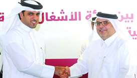 QFFD director general Khalifa bin Jassim al-Kuwari and Ashghal president and senior engineer Saad bi