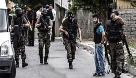 Turkish special forces cleared the streets in the Sultanbeyli district in Istanbul. AFP