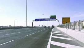The F-Ring road section leading to the new massive bridge across Doha-Abu Hamour road PICTURE: Sheme