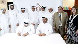 HE the Minister of Culture and Sports Salah bin Ghanim al-Ali with officials. PICTURE: Jayaram