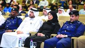 HE the Minister of Public Health Dr Hanan Mohamed al-Kuwari attended the launch event of Qatar Traum