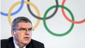 International Olympic Committee (IOC) President Thomas Bach attends a press conference following an