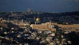 A general view of Jerusalem shows the Dome of the Rock, located in Jerusalem's Old City on the compo