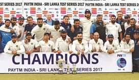 India win ninth Test series in a row after Sri Lanka draw