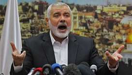 Hamas calls for Palestinian uprising against Israel