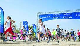 Large turnout at Aspire Park Run Challenge