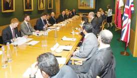 The inaugural meeting of the Joint Economic and Trade Commission (Jetco) between Qatar and the UK in