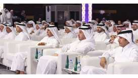 HE the Prime Minister, HE the Speaker of the Shura Council and HE the Chairman of QMC attending the