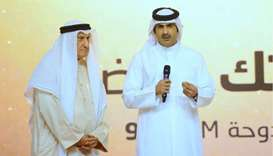 Dr al-Nama was felicitated by QMC CEO HE Sheikh Abdulrahman bin Hamad al-Thani at the Qatar Radio's