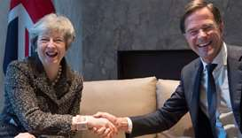 British Prime Minister Theresa May and Dutch Prime Minister Mark Rutte