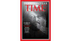 "One of four covers for Time magazine ""Person of the Year"" December 24/December 31 2018."