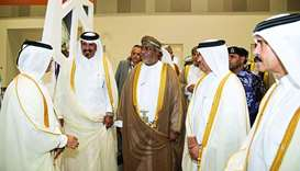 Abdulaziz al-Mulla, introduces Astad to HE the Minister of Commerce and Industry Ali bin Ahmed al-Ku