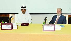 Qicca board member for International Relations Dr Thani bin Ali al-Thani and Astad contract speciali