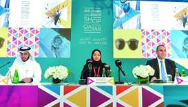 Faissal Alhaithami, Mashal Shahbik and Samer Bou Dargham at the Shop Qatar press conference