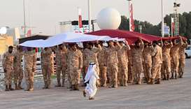 Rehearsal for National Day celebrations at Darb Al Saai