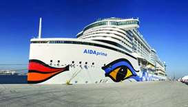 German mega ship AIDA Prima makes maiden call at Doha Port