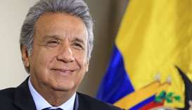 Ecuador President Moreno arrives Thursday