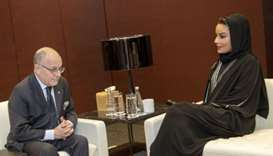 Her Highness Sheikha Moza bint Nasser met with Argentine Minister of Foreign Affairs and Worship Jor