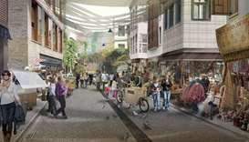 Artist's impression of the historic Sulaymaniyah district in Istanbul.