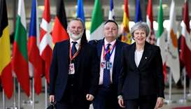 May seeks Brexit help at Brussels summit
